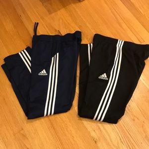 Boys ADIDAS Blue & Black Running Pants Sz XL 18-20